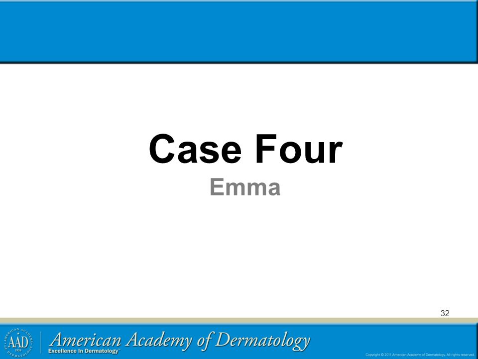 Case Four Emma Transient benign rash with differential