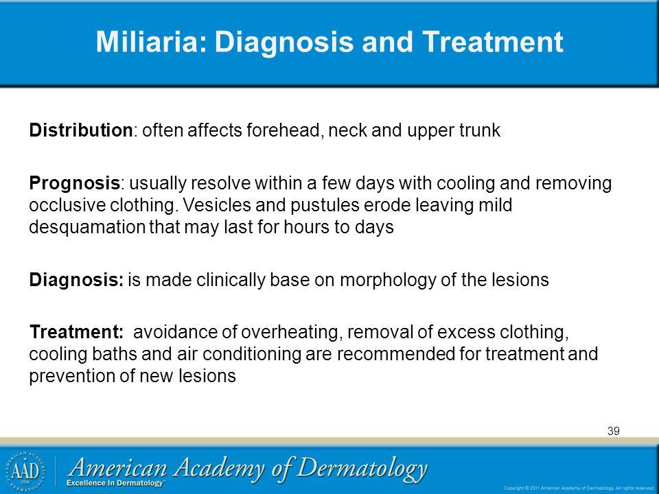 Miliaria: Diagnosis and Treatment