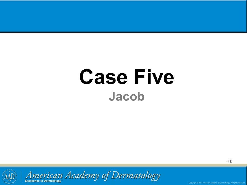 Case Five Jacob 4. Hyperpigmentation case... congenital melanocytic nevus and café au lait