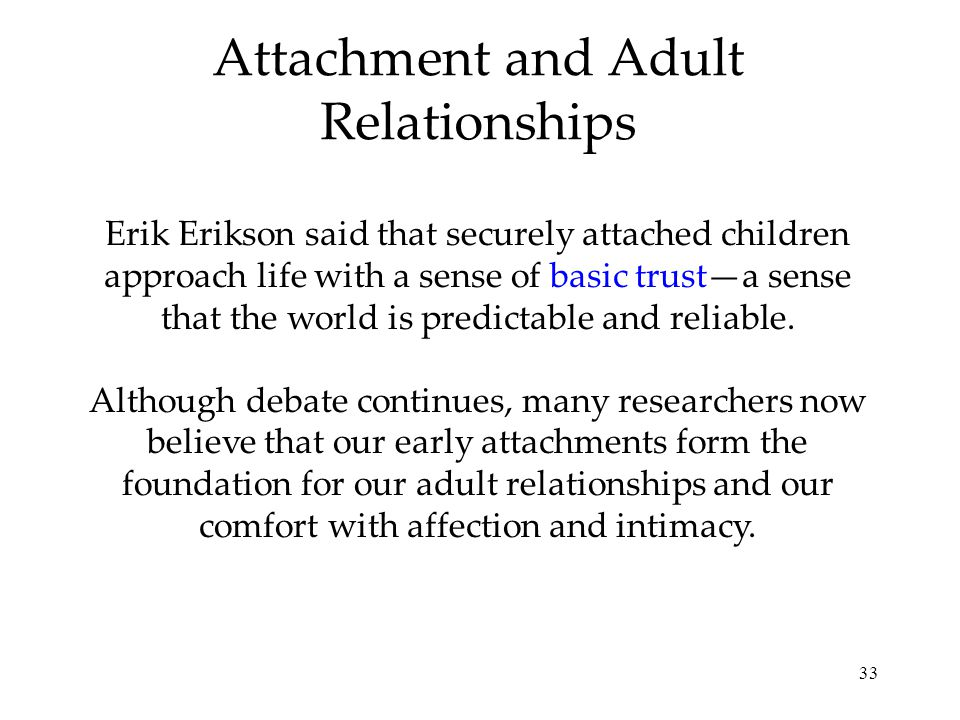 Attachment and Adult Relationships