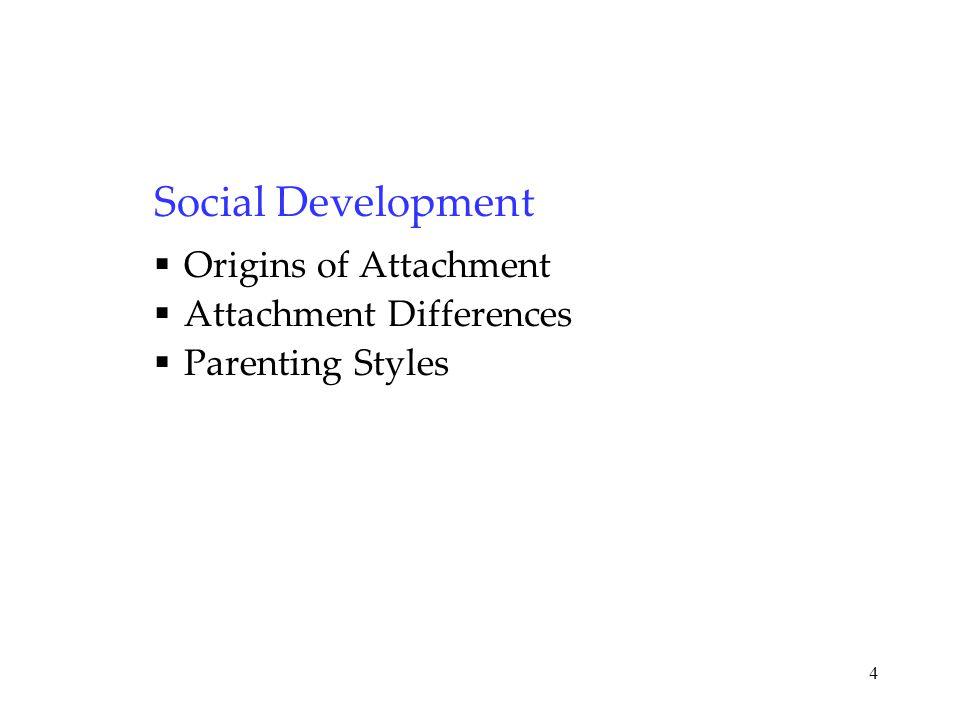 Social Development Origins of Attachment Attachment Differences