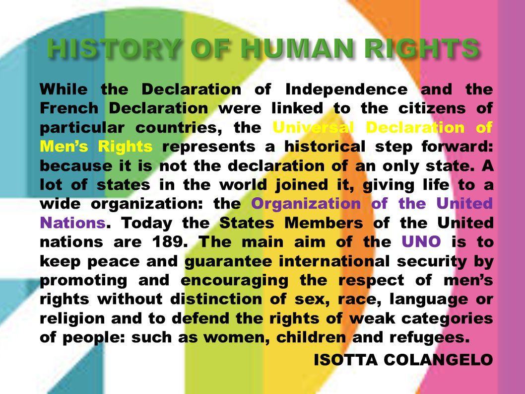 HISTORY OF HUMAN RIGHTS