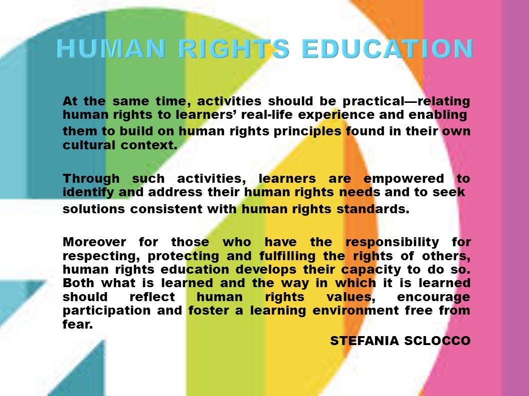 HUMAN RIGHTS EDUCATION