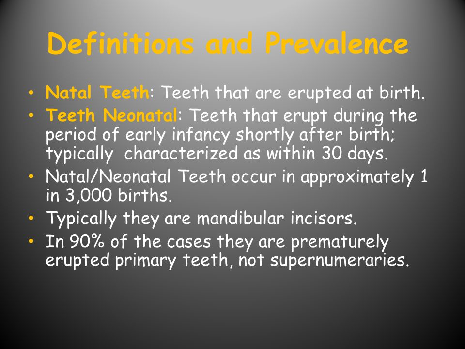 Definitions and Prevalence