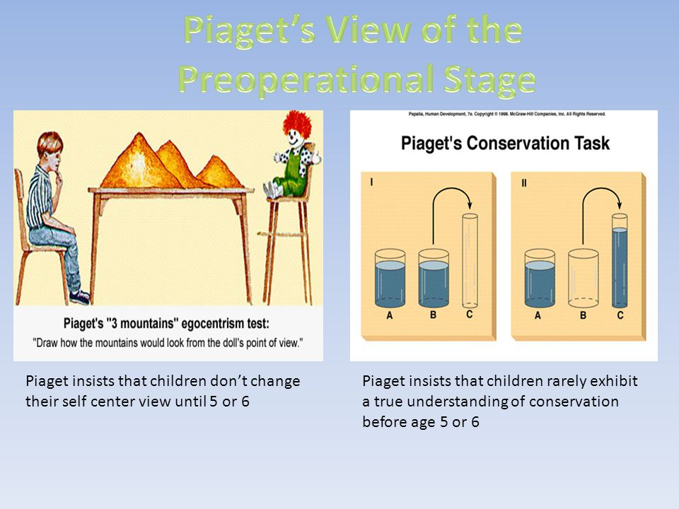 Piaget's View of the Preoperational Stage