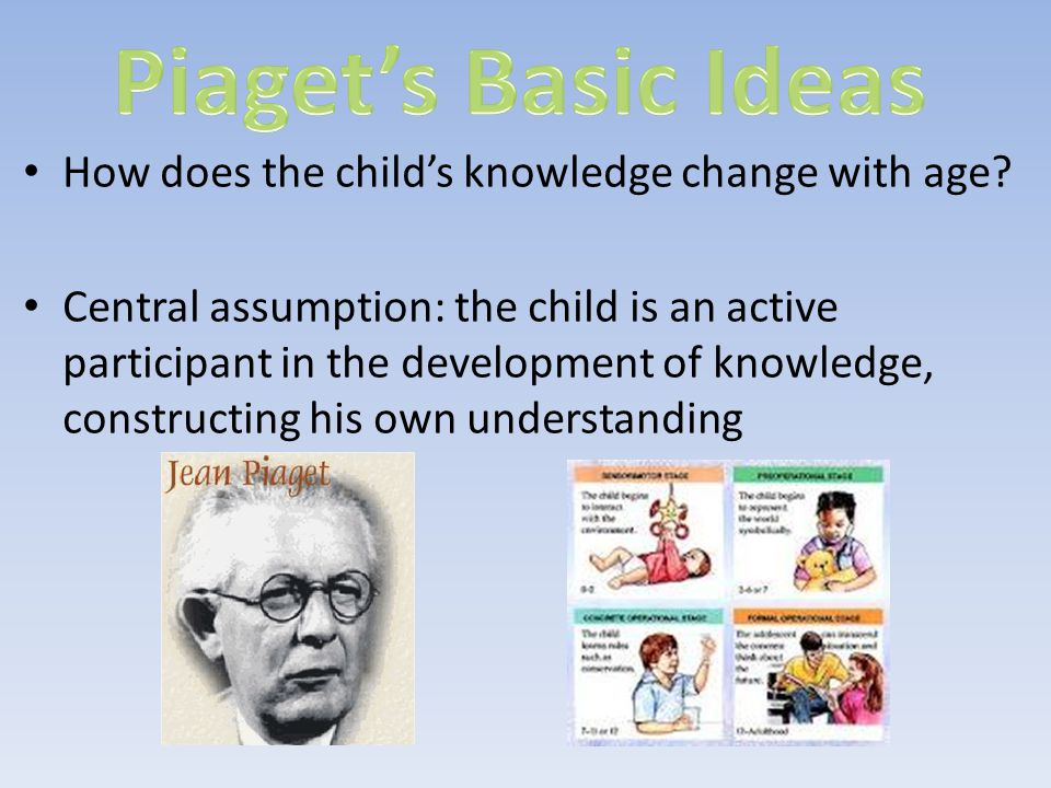 Piaget's Basic Ideas How does the child's knowledge change with age