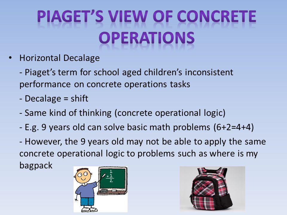 Piaget's view of concrete