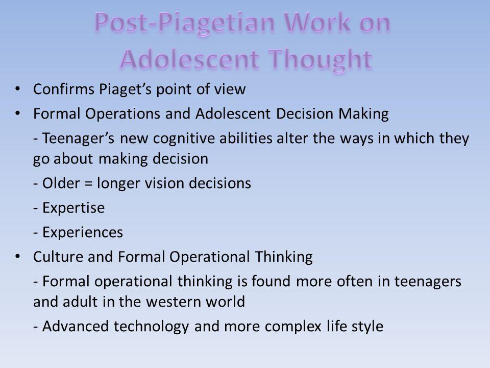 Post-Piagetian Work on