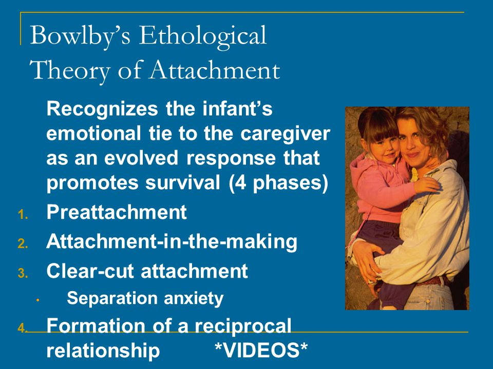 Bowlby's Ethological Theory of Attachment