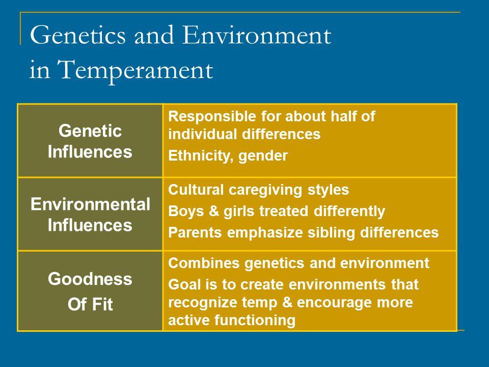 Genetics and Environment in Temperament