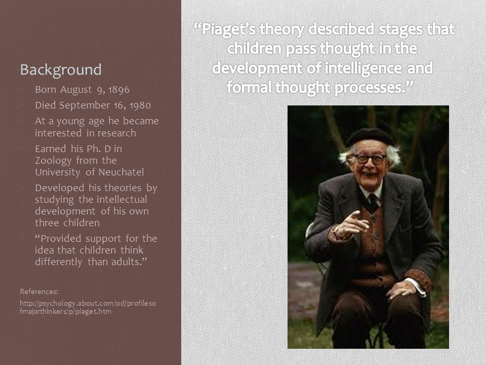Piaget's theory described stages that children pass thought in the
