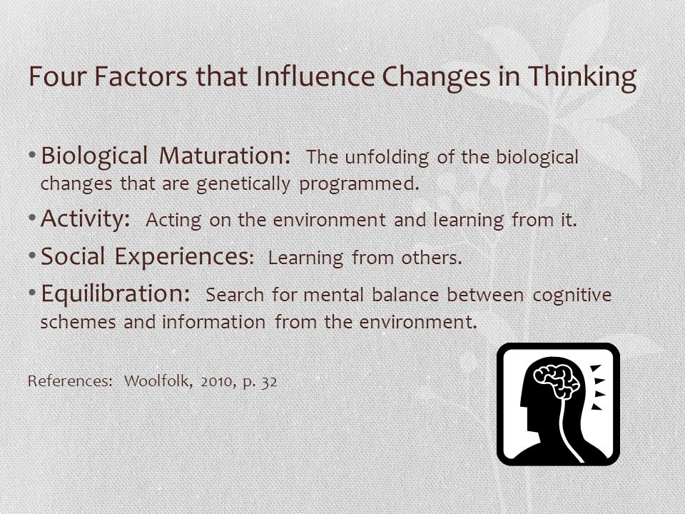 Four Factors that Influence Changes in Thinking