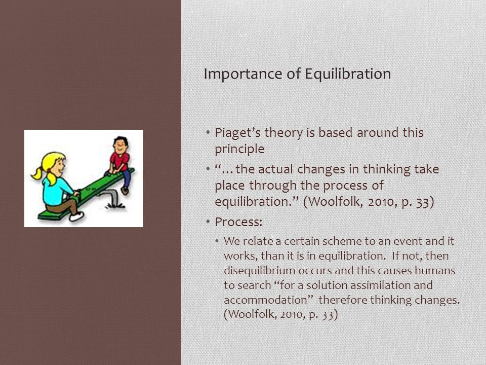Importance of Equilibration