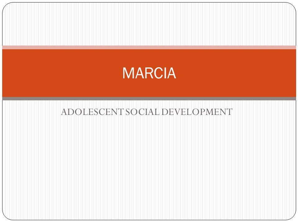 ADOLESCENT SOCIAL DEVELOPMENT