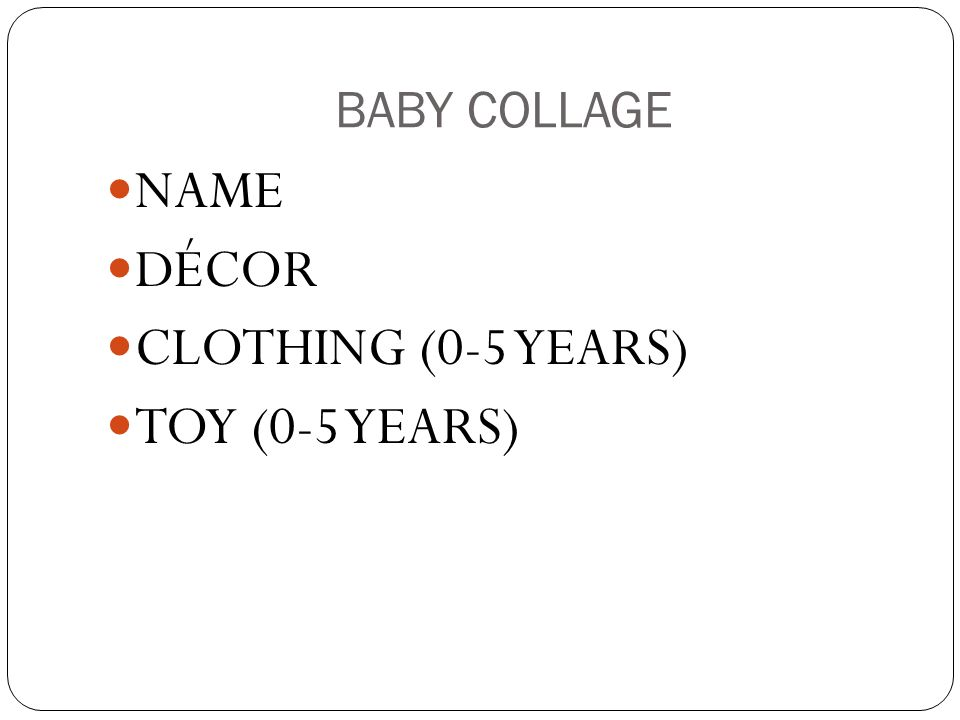 BABY COLLAGE NAME DÉCOR CLOTHING (0-5 YEARS) TOY (0-5 YEARS)
