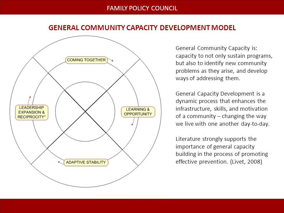 General Community Capacity Development Model