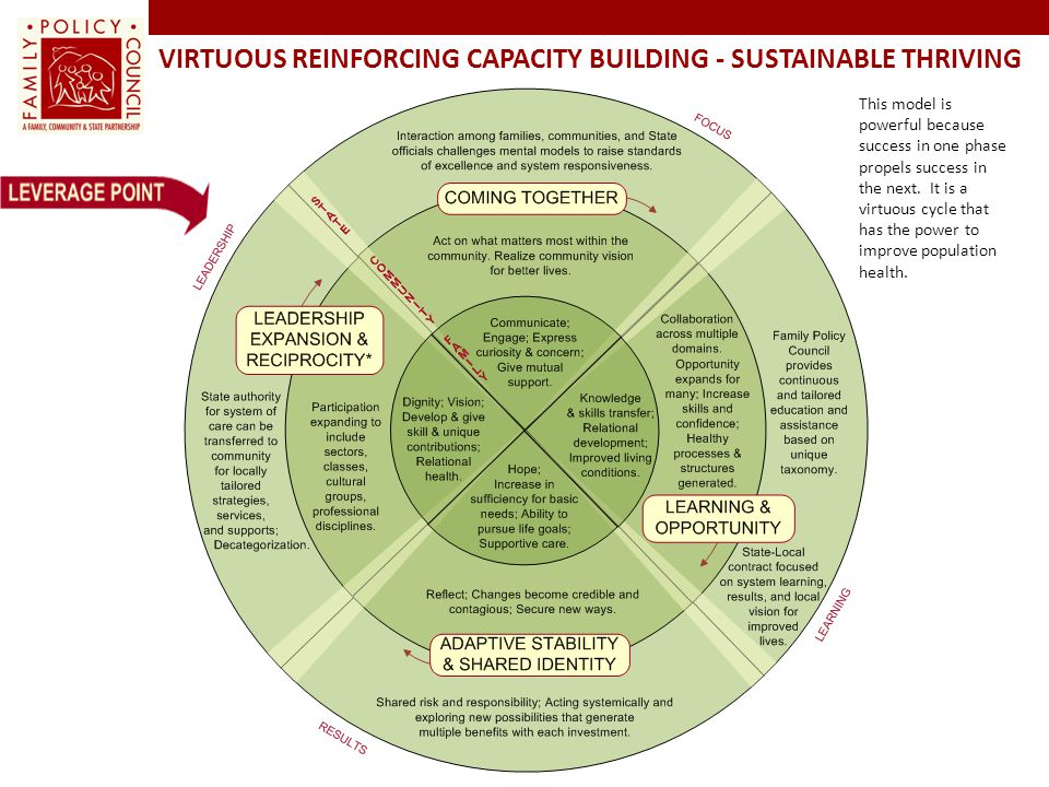 Virtuous Reinforcing Capacity Building - Sustainable Thriving
