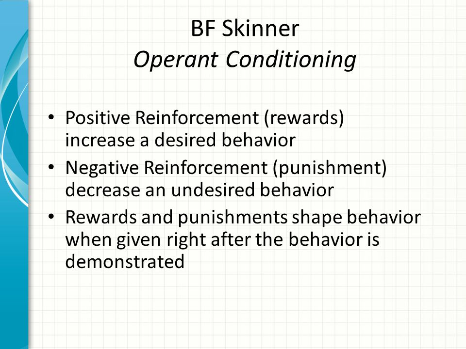 BF Skinner Operant Conditioning