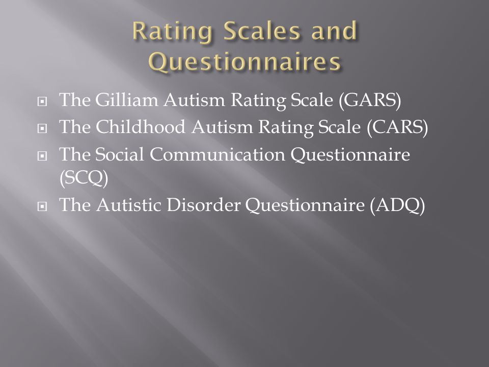 Rating Scales and Questionnaires