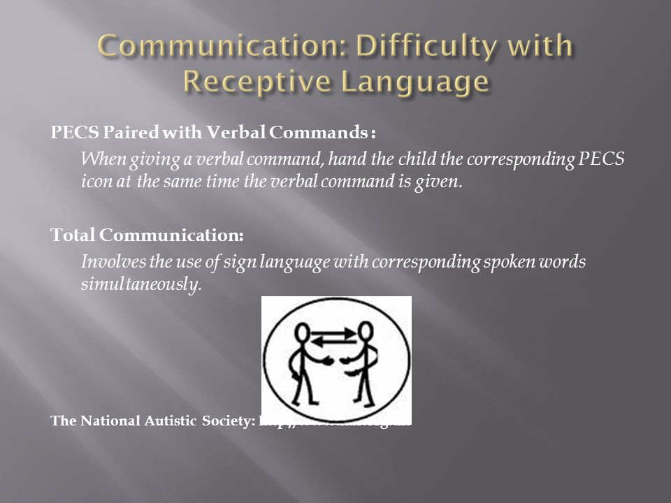 Communication: Difficulty with Receptive Language