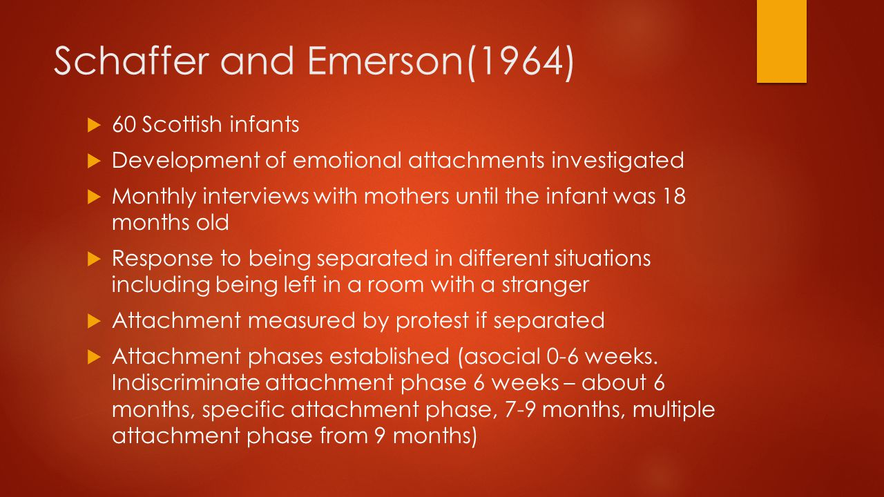 Schaffer and Emerson(1964)