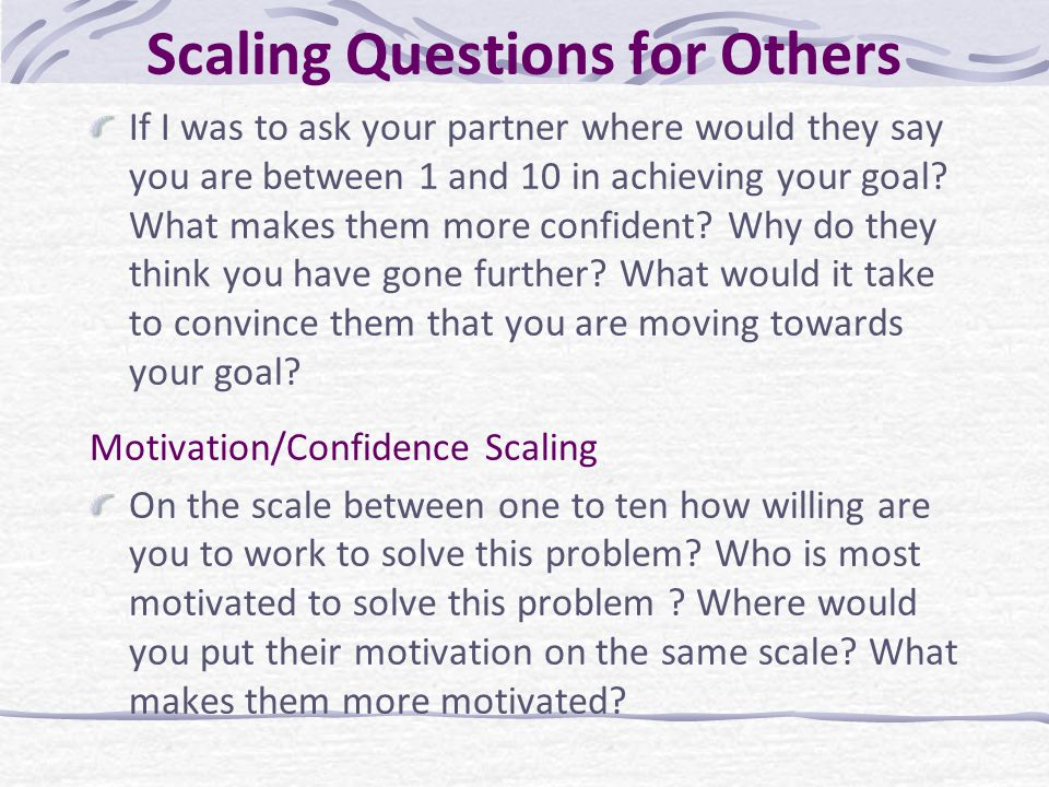 Scaling Questions for Others