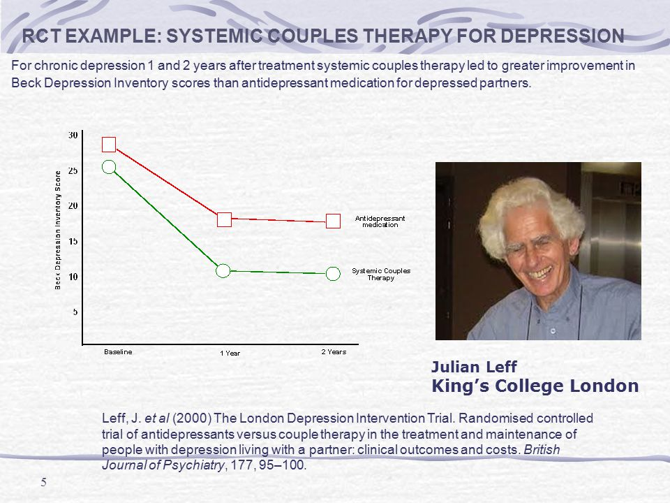 RCT EXAMPLE: SYSTEMIC COUPLES THERAPY FOR DEPRESSION