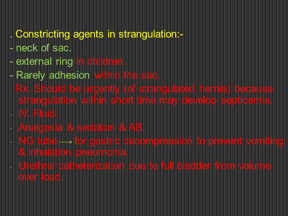 . Constricting agents in strangulation:-