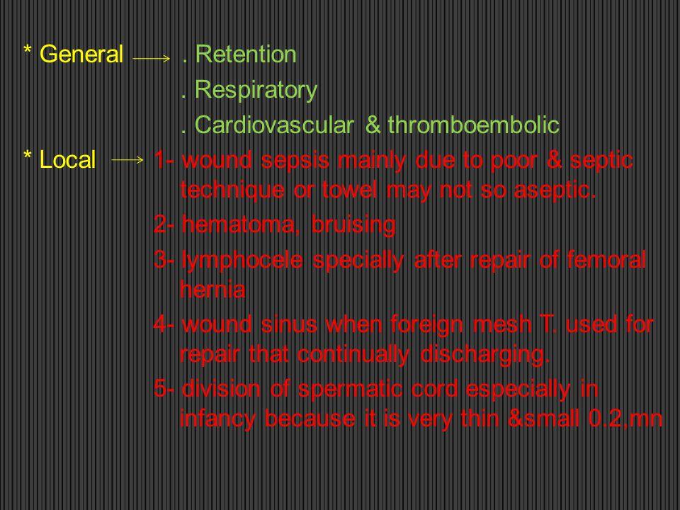 General. Retention. Respiratory. Cardiovascular & thromboembolic
