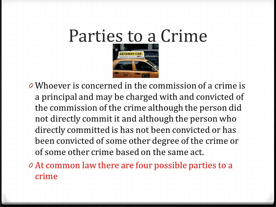 Parties to a Crime