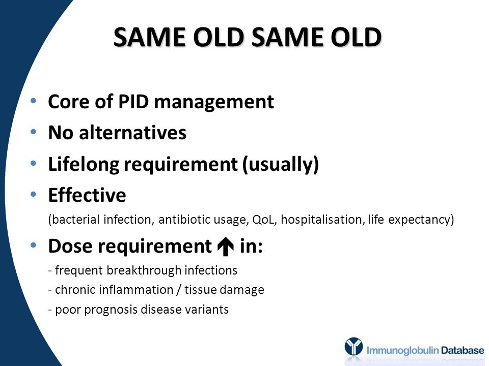 SAME OLD SAME OLD Core of PID management No alternatives