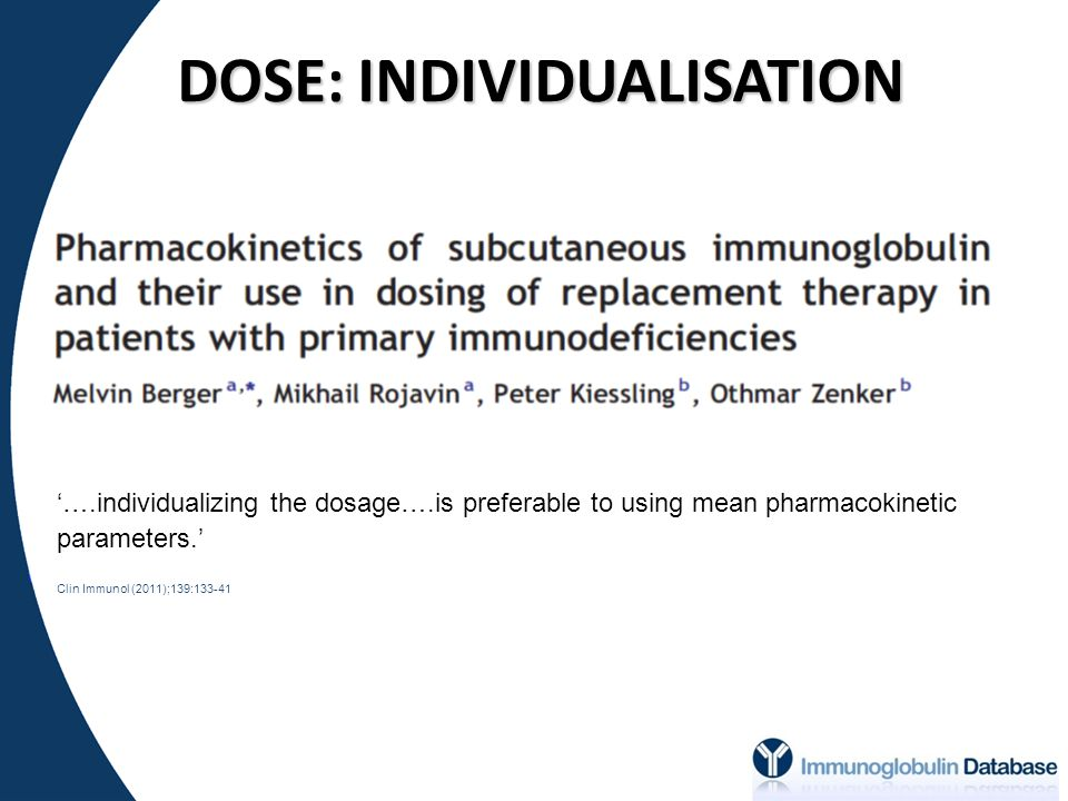 DOSE: INDIVIDUALISATION