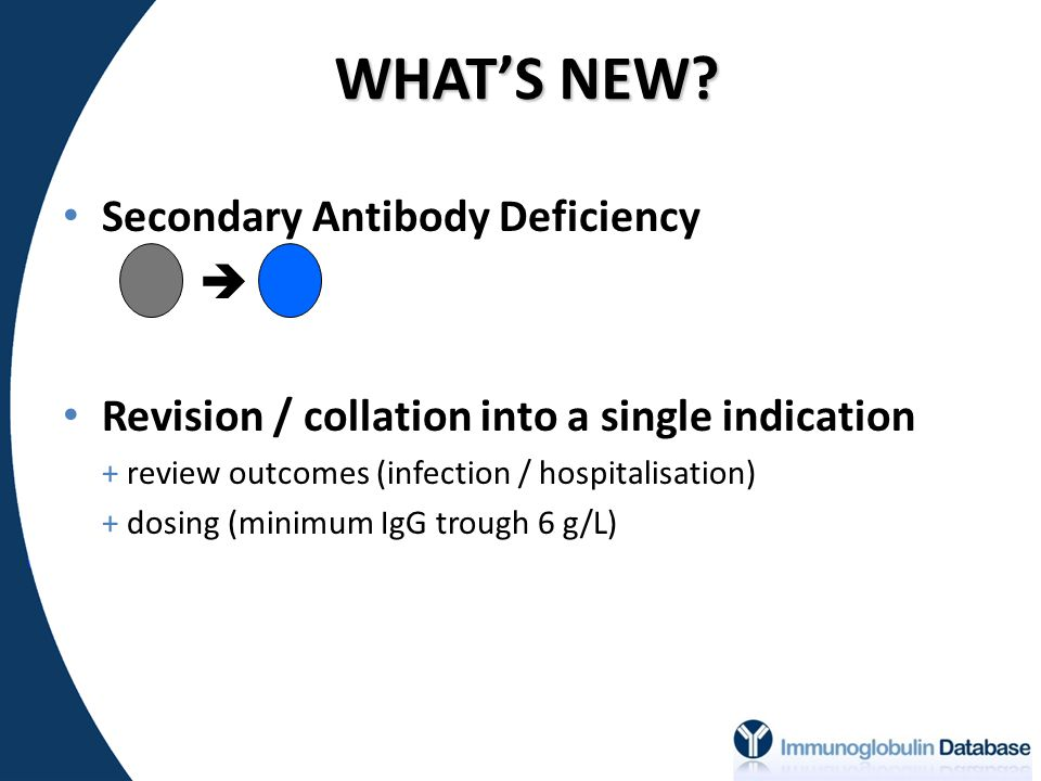 WHAT'S NEW Secondary Antibody Deficiency 