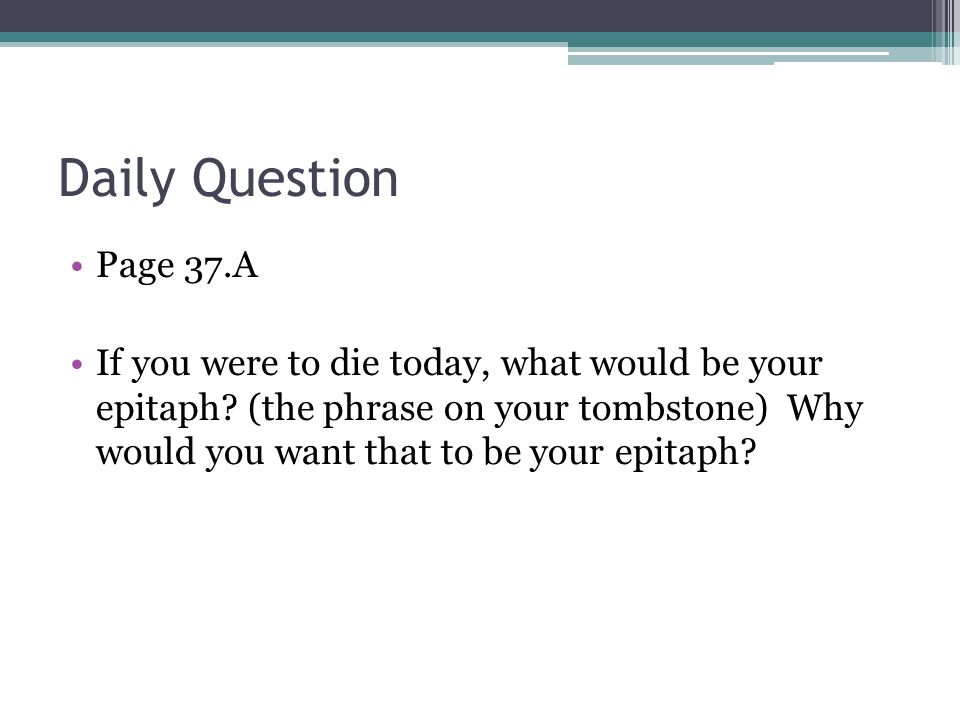 Daily Question Page 37.A.