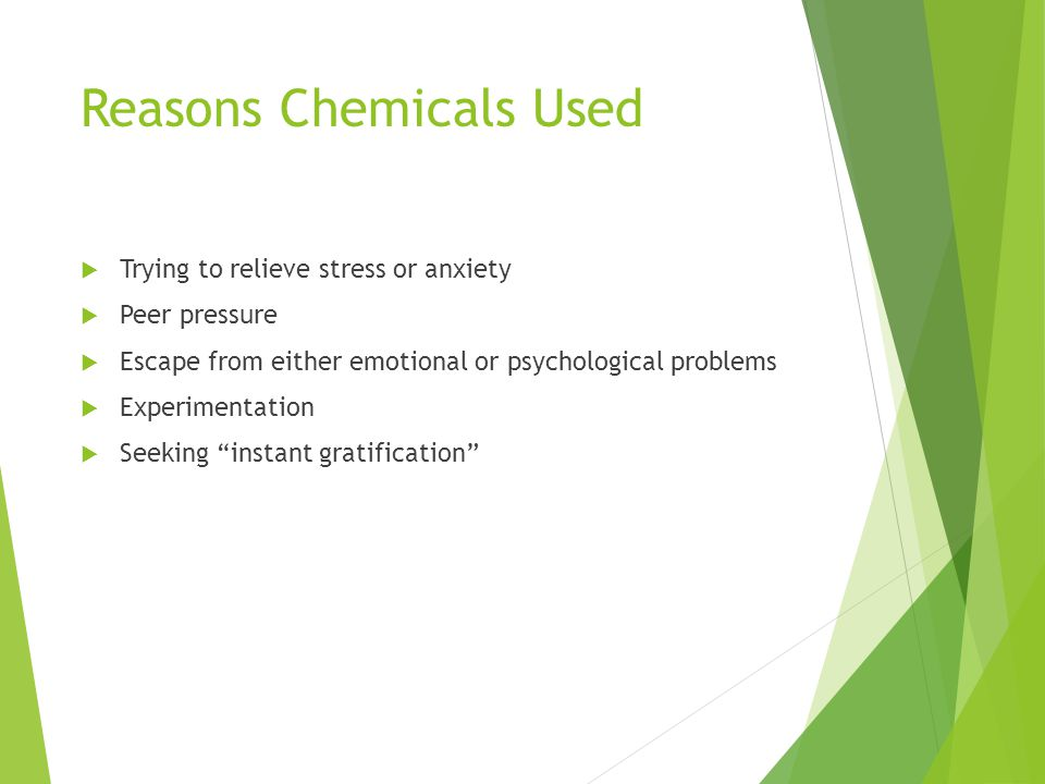Reasons Chemicals Used