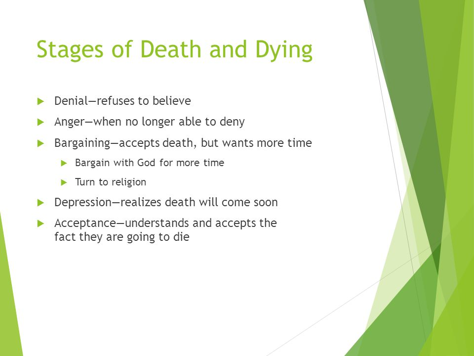 Stages of Death and Dying
