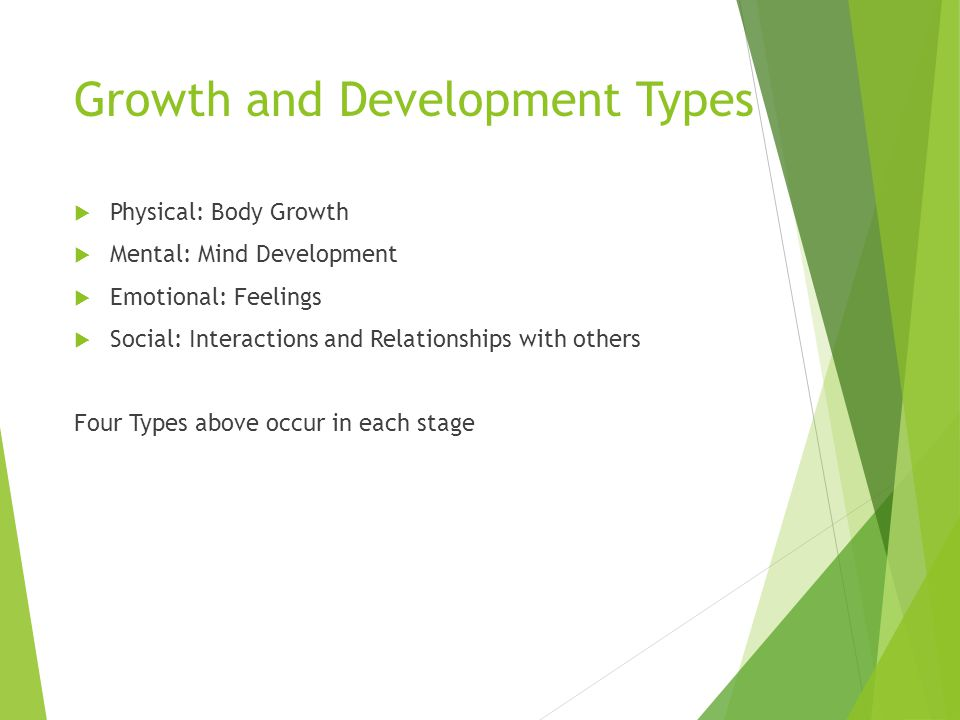 Growth and Development Types