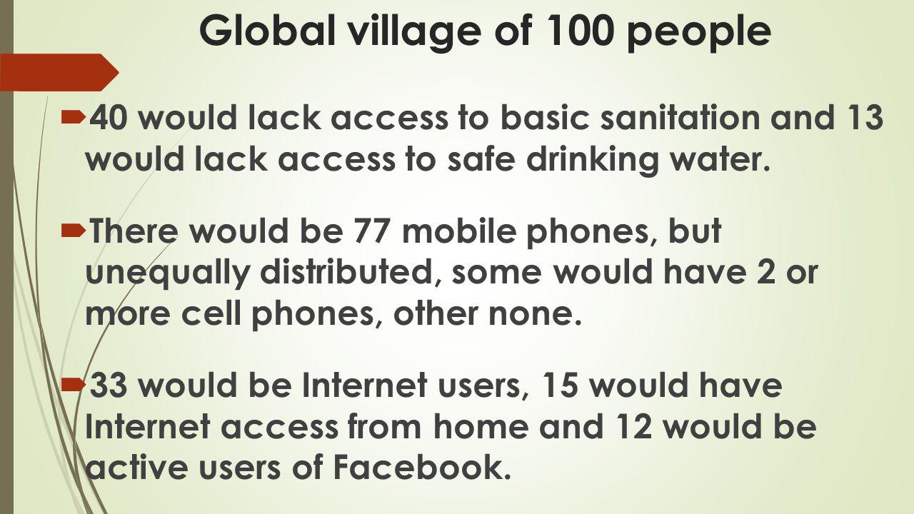 Global village of 100 people