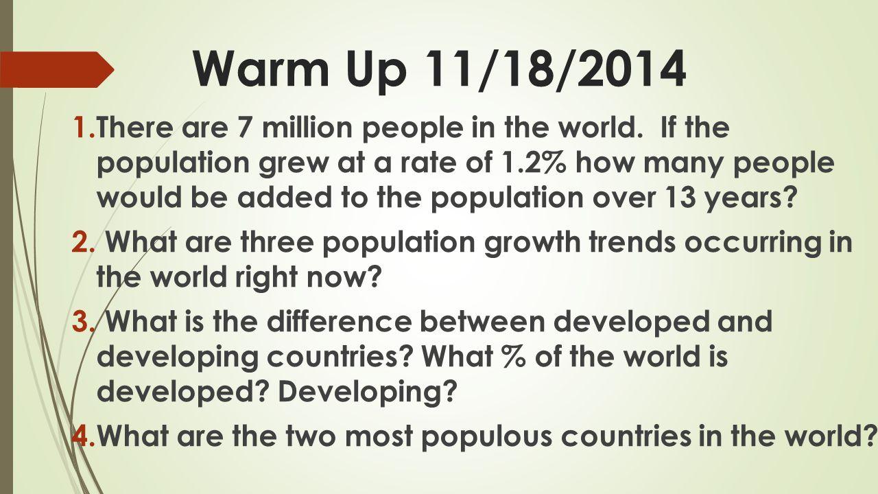 Warm Up 11/18/2014