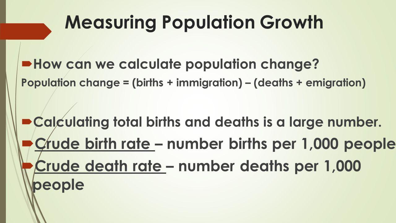 Measuring Population Growth