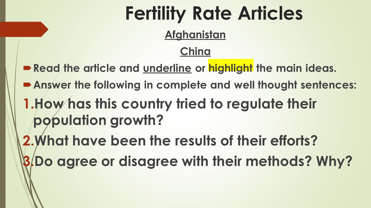 Fertility Rate Articles