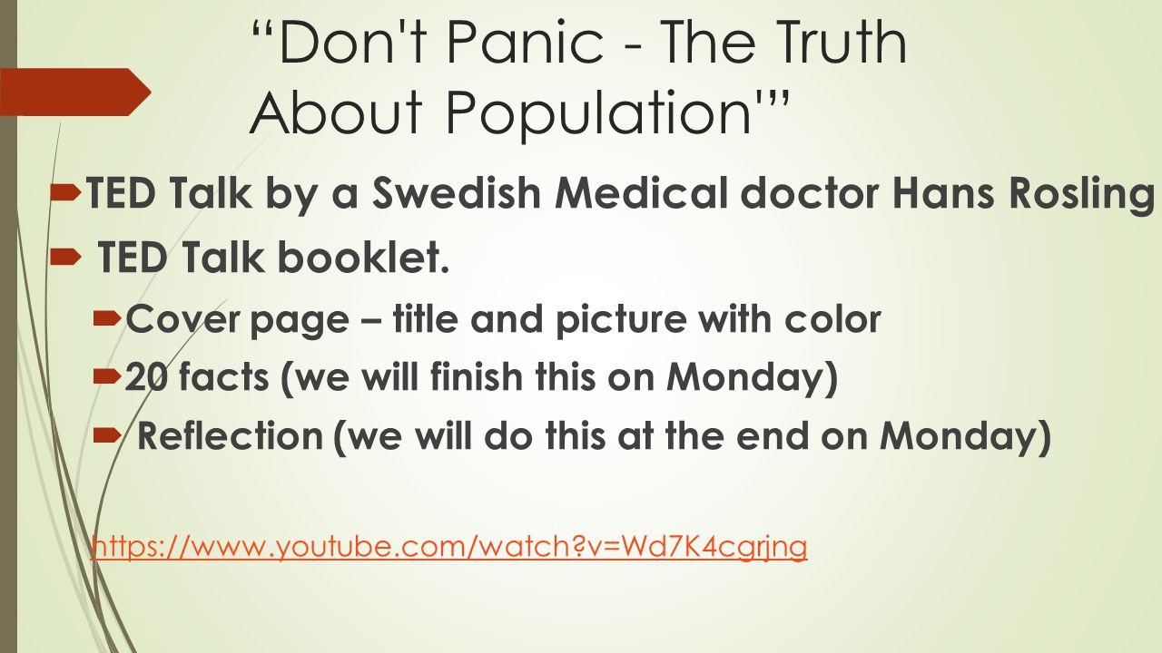 Don t Panic - The Truth About Population