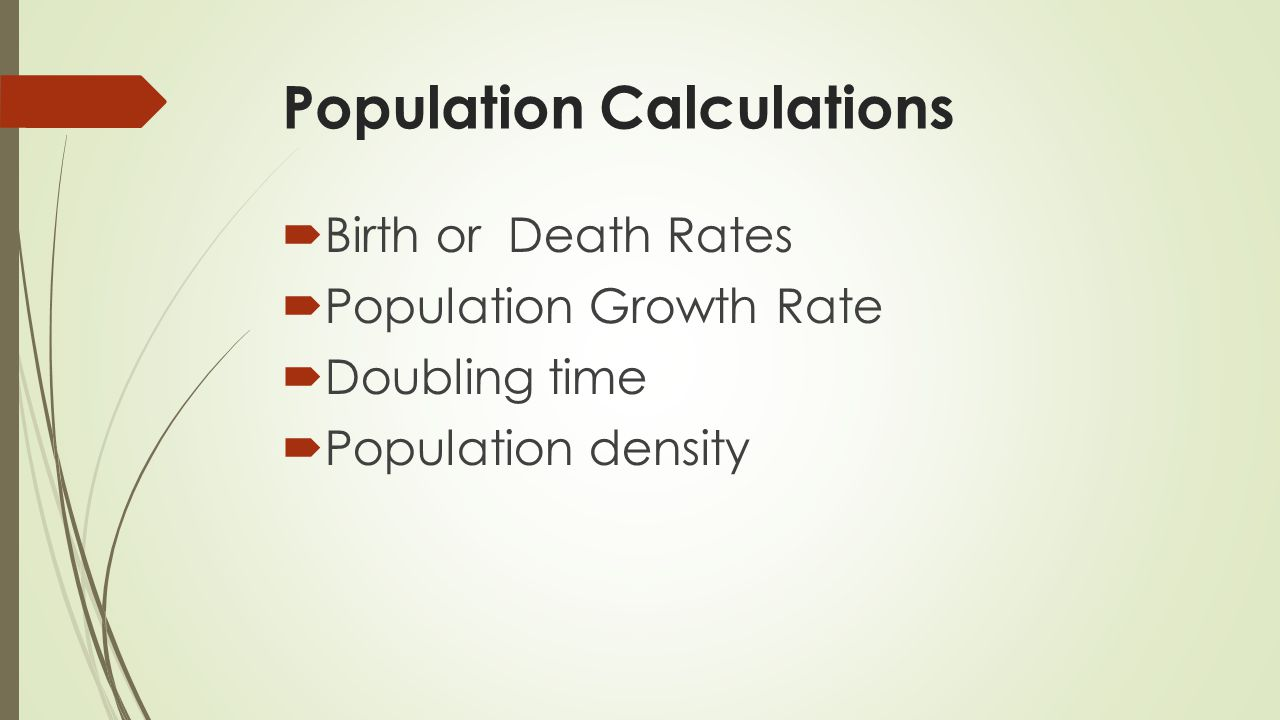 Population Calculations