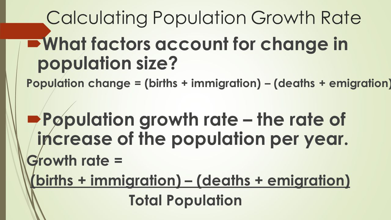 Calculating Population Growth Rate