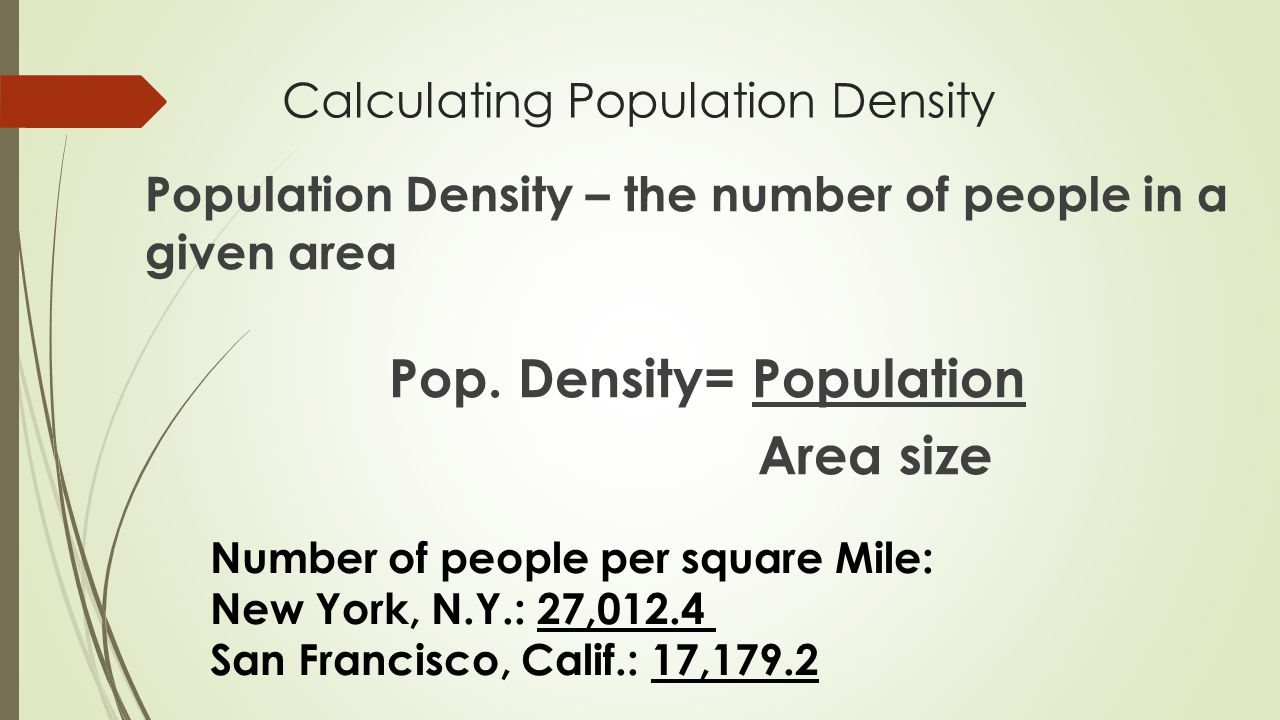 Calculating Population Density