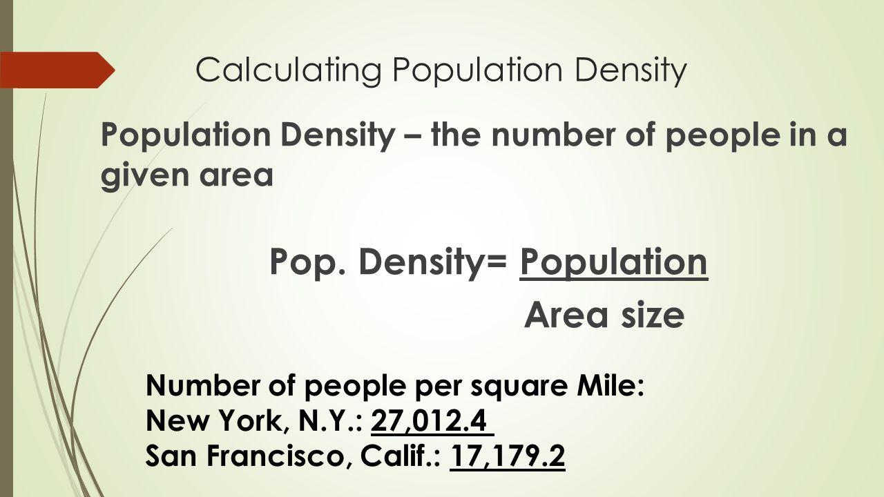 Calculating Population Density