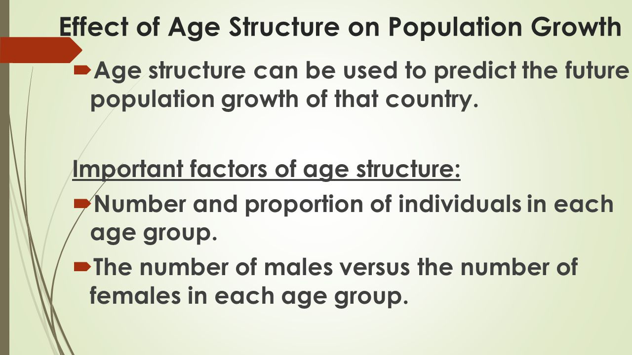 Effect of Age Structure on Population Growth