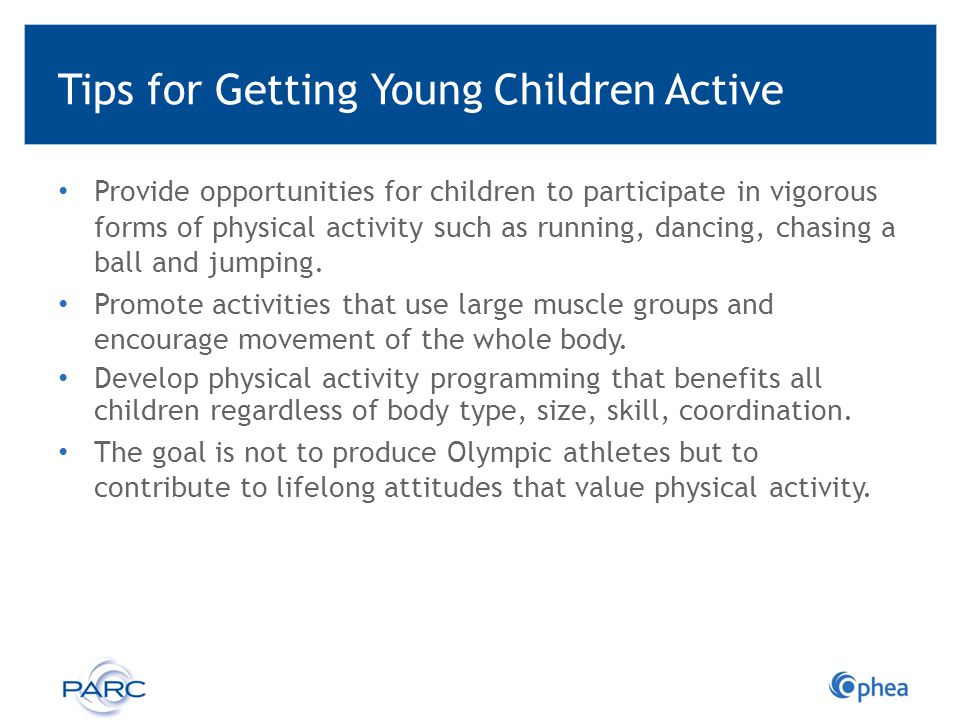 Tips for Getting Young Children Active