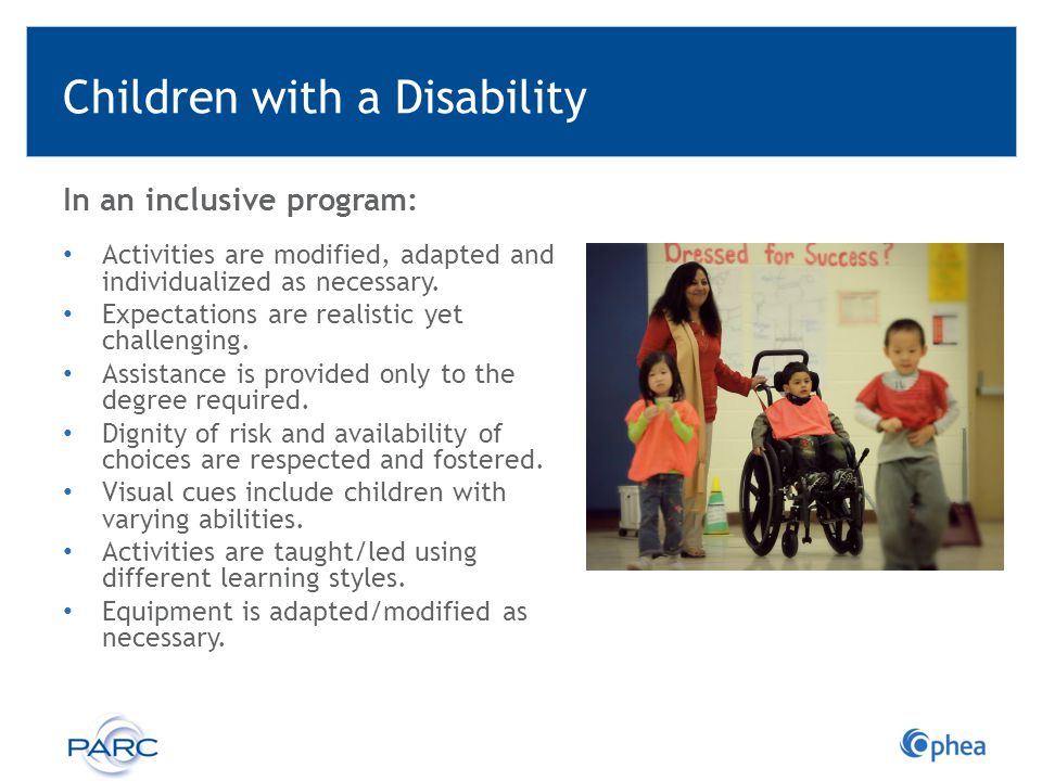Children with a Disability
