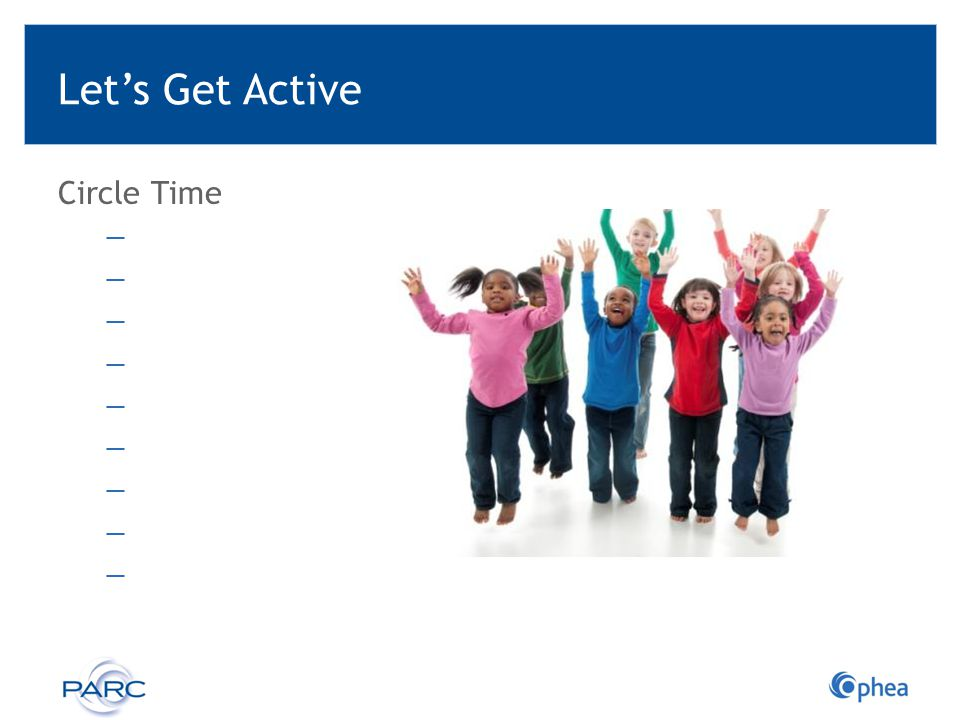 Let's Get Active Circle Time Ready-to-go Activities: